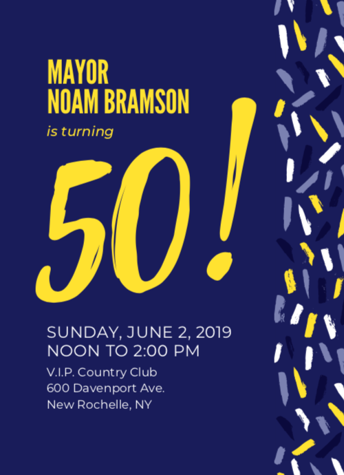 If You Havent Already RSVPed Please Join Me At My 50th Birthday Celebration On Sunday June 2nd Can Reserve A Ticket Online Or Download The