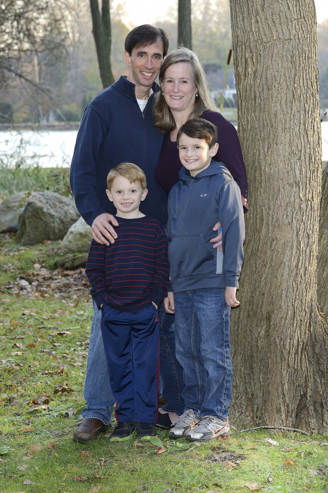 Noam and Catie, with their sons Jeremy and Owen.
