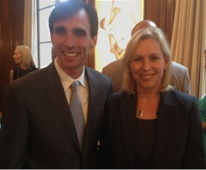 Noam with Senator Kirsten Gillibrand