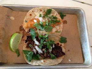 Baja Fish & Duck Taco