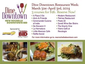 BID Dine Downtown Postcard Image