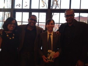 Sharon Epperson, Alvin Clayton, Noam (with autographed copy!), and author Chris Farley.