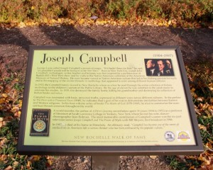 Joseph Campbell is one of the notables along the Walk of Fame.