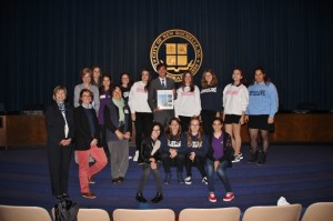 Students from France visit City Hall