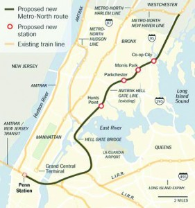 New Rochelle will have direct access to the east and west sides.