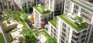 Green roofs exemplify sustainability principles.