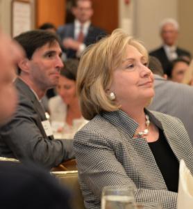 Mayor Noam Bramson with Hillary Clinton