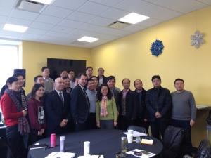 Mayor Noam Bramson with China delegation at Monroe.