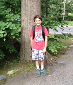 Jeremy Bramson on the last day of elementary school.