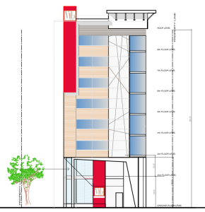 Elevation of Proposed Vib Hotel on Church Street