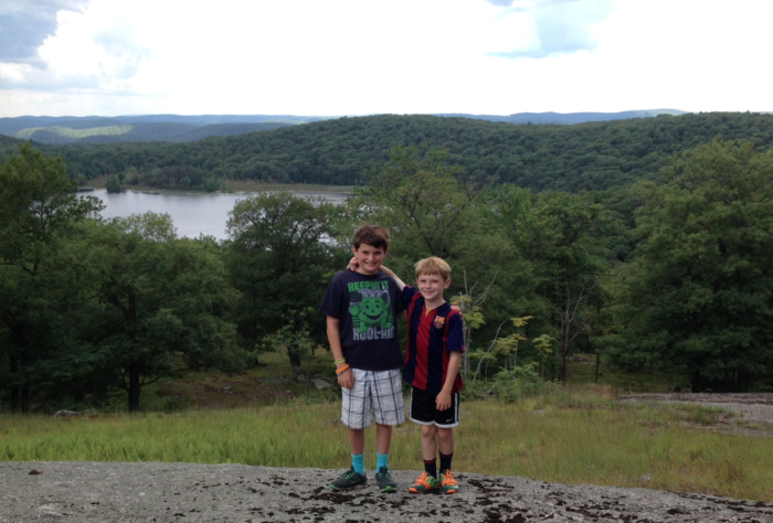 Jeremy and Owen Bramson in Harriman State Park